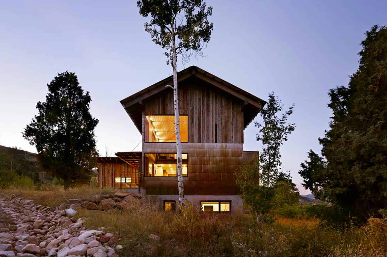 Spectacular modern home nestled into the rugged utah landscape