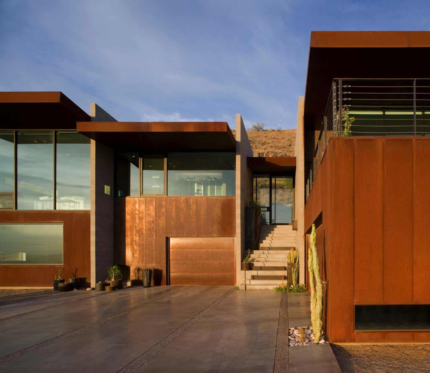 Modern Exterior Design: Modern Concrete And Glass Home Emerges In The Arizona Desert