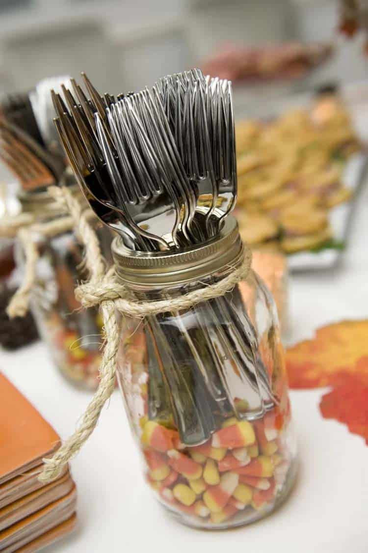 mason-jar-silverware-holder