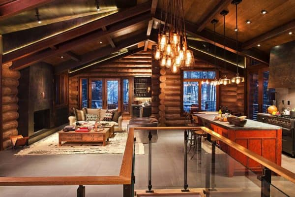 featured posts image for Rustic log cabin features cozy living in mountain village of Telluride