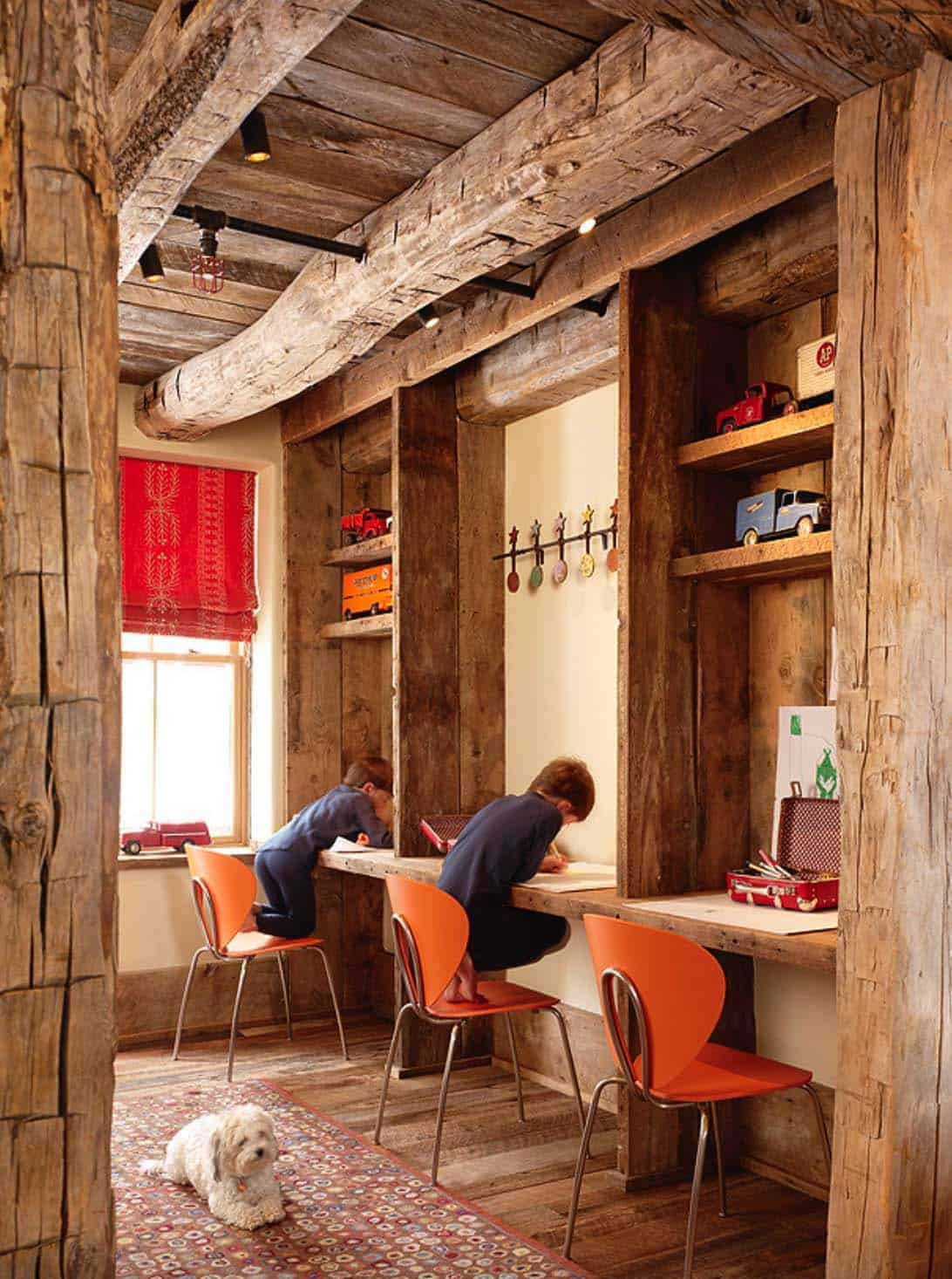 rustic-kids-homework-craft-station