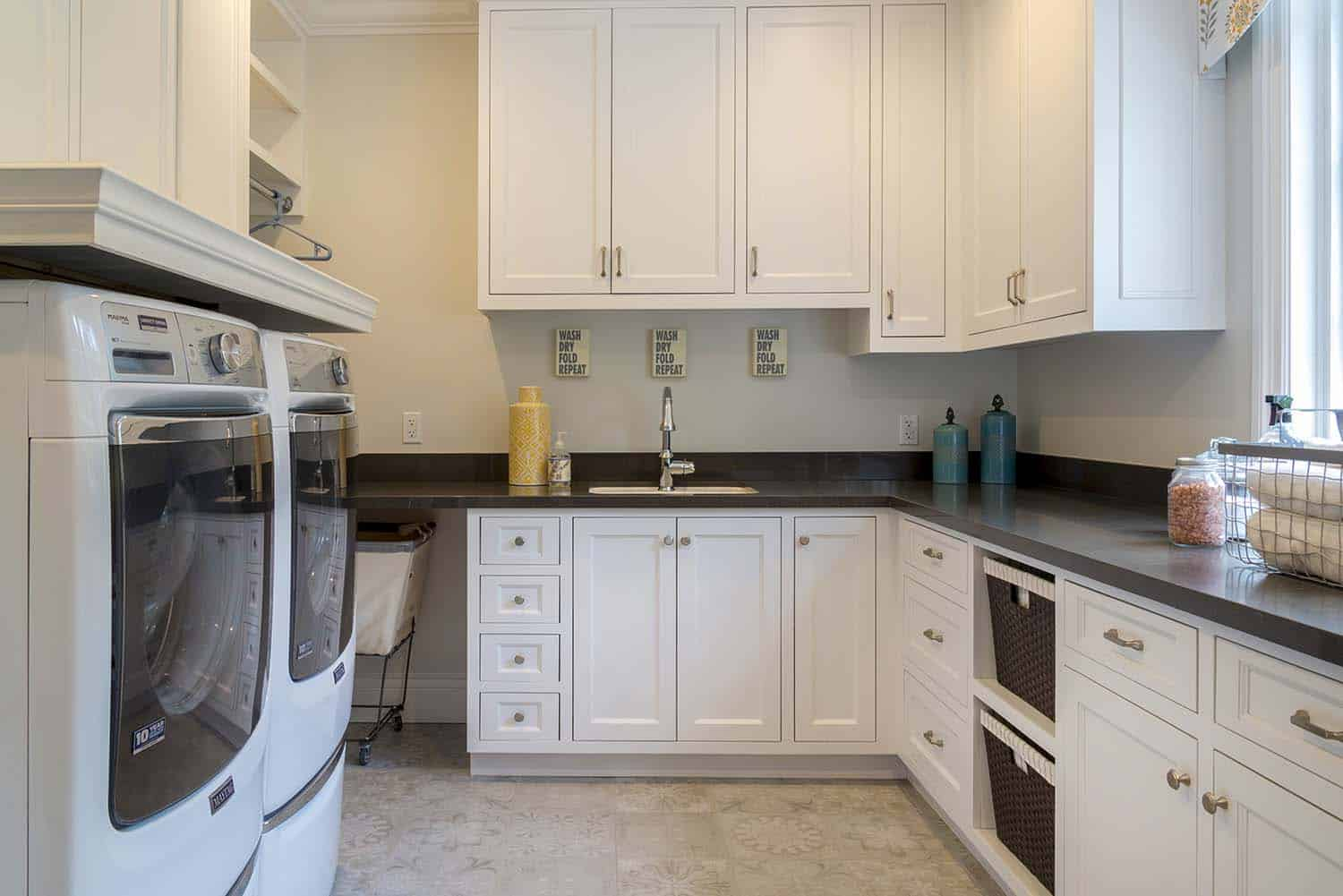transitional-laundry-room