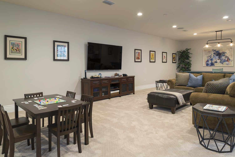transitional-basement-entertainment-room