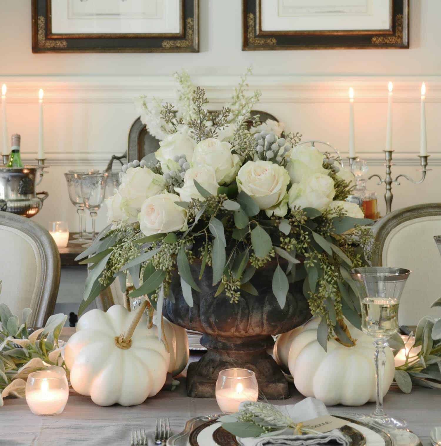Thanksgiving Table Arrangements: 25+ Beautiful And Elegant Centerpiece Ideas For A