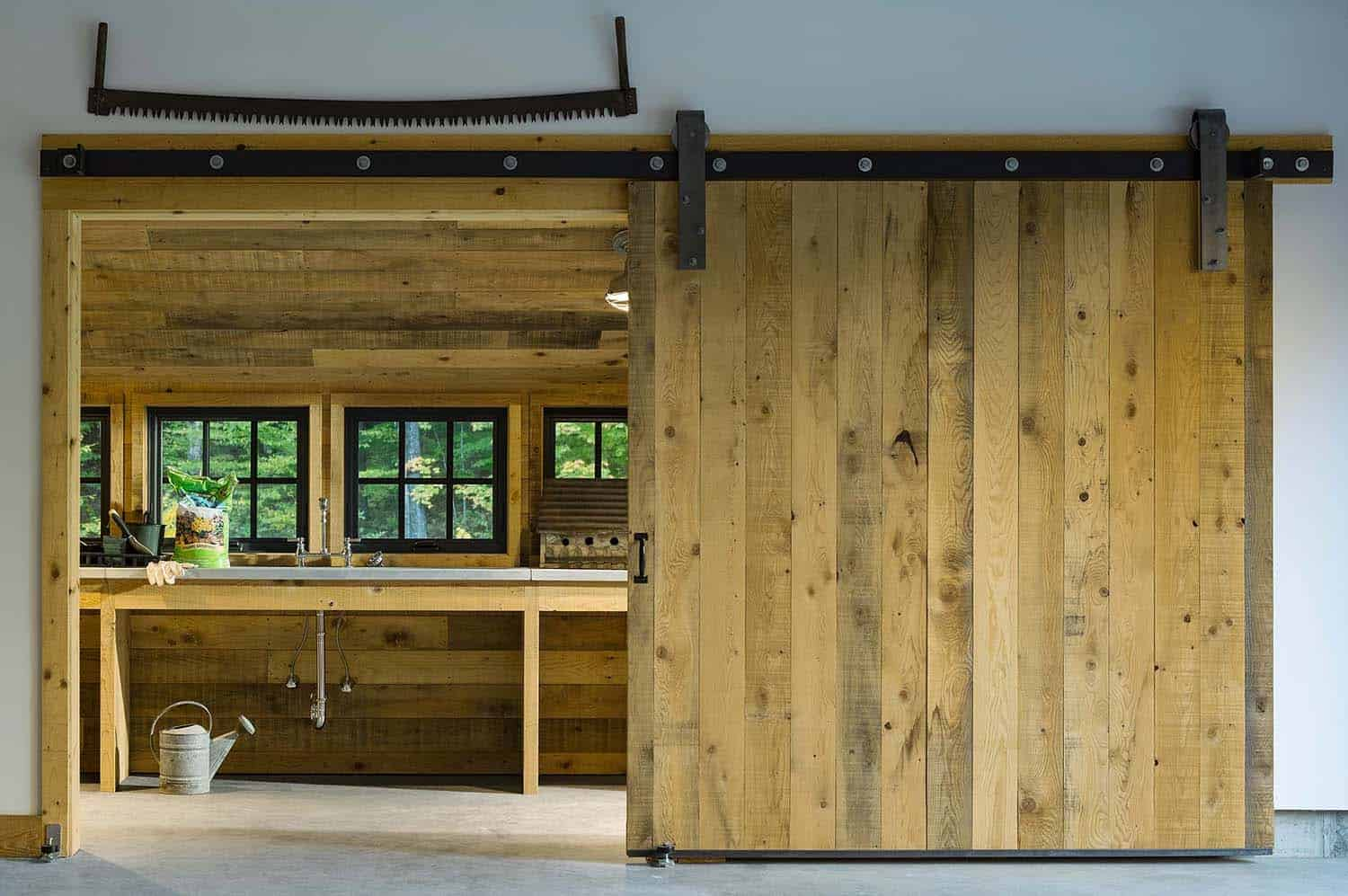 contemporary-mountain-home-potting-shed