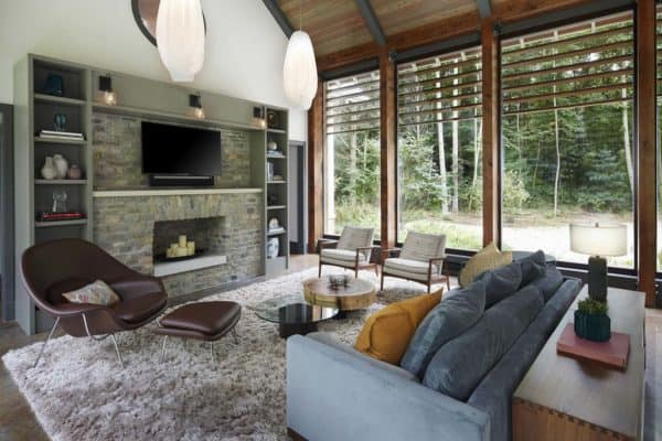 featured posts image for Net-zero energy vacation cottage in Michigan with light-filled interiors