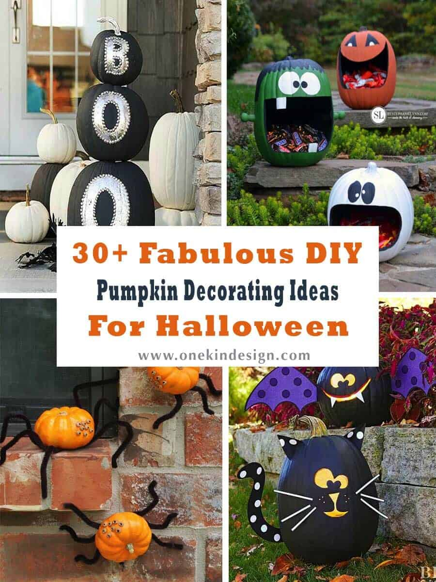 30 Fabulous DIY Pumpkin Decorating Ideas for Halloween