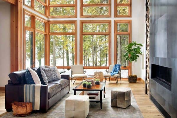 featured posts image for Striking lake house blends modern elements with traditional Montana style