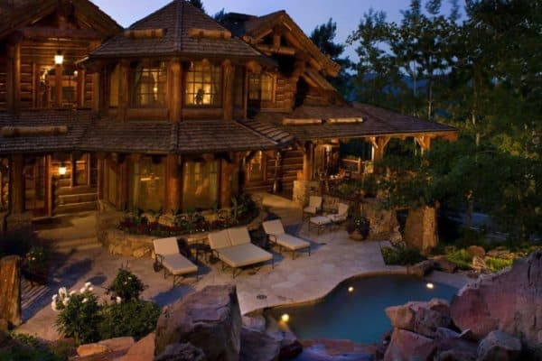 featured posts image for Romantic rustic log and stone home in a Colorado mountain village
