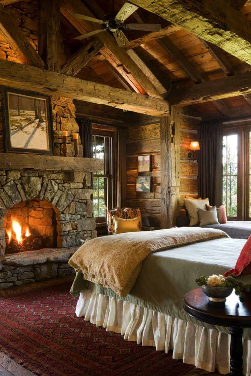 rustic-mountain-home-bedroom