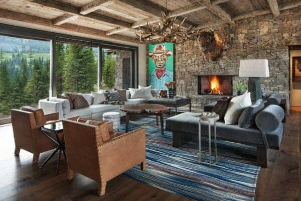 featured posts image for Mountain-rustic getaway boasts breathtaking views of Big Sky, Montana