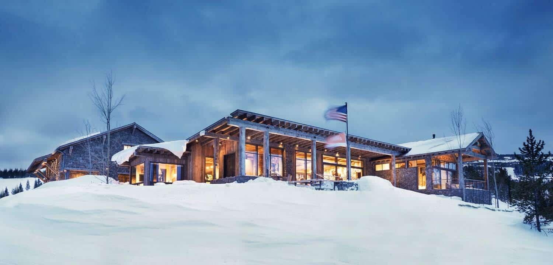 Mountain Rustic Getaway Boasts Breathtaking Views Of Big Sky Montana