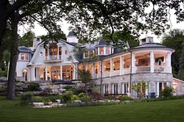 featured posts image for Whimsical shingle-style home features fabulous living on Lake Geneva
