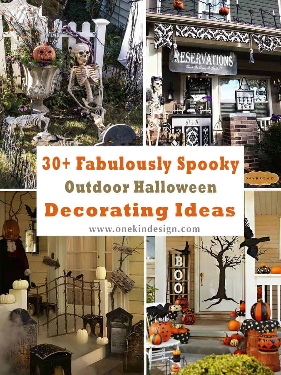 30 Fabulously Spooky Outdoor Halloween Decorating Ideas