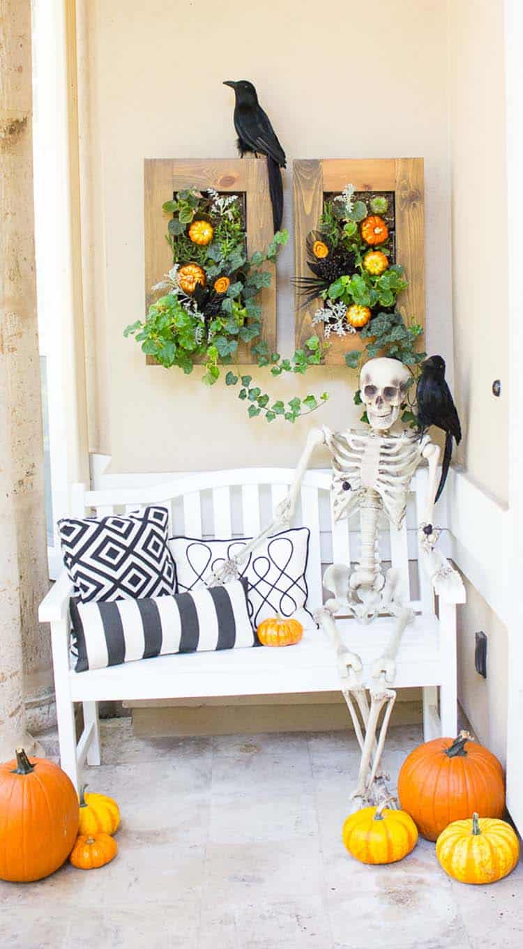 Wooden Pumpkins Set Of 3 Fall Front Porch Decor Outside Rustic Halloween Or Thanksgiving Yard Decorations