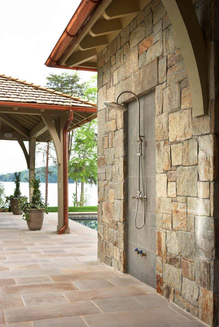 waterfront-house-traditional-outdoor-shower
