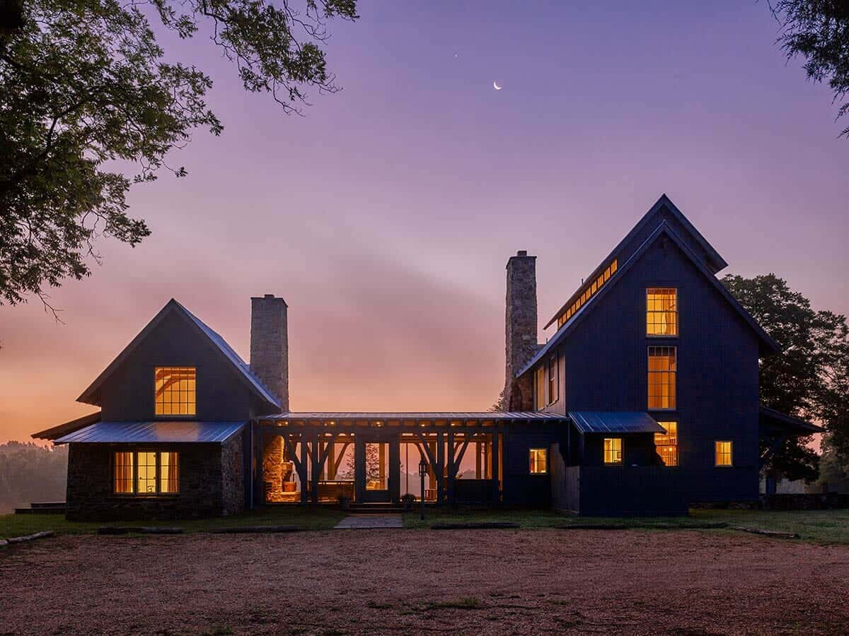 A farmhouse family retreat in south carolina offers a for South carolina home builders