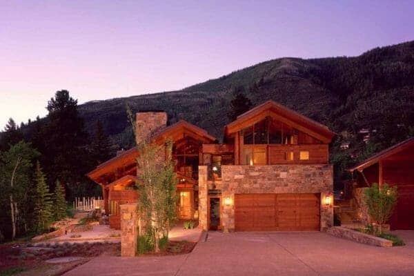 featured posts image for Modern-rustic mountain dwelling with picturesque setting in Aspen