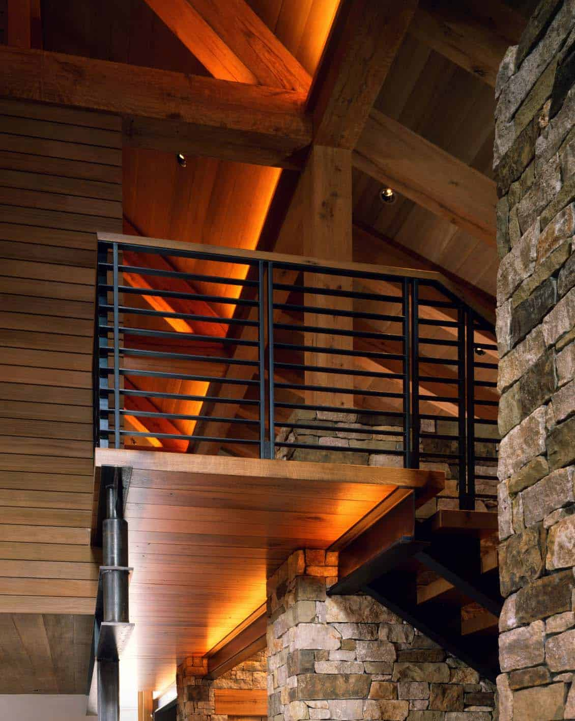 modern-rustic-mountain-home-staircase