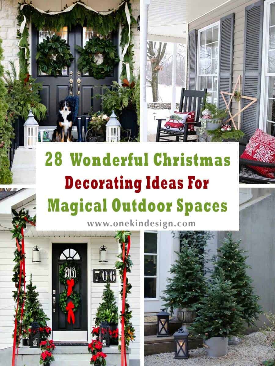 28 Wonderful Christmas Decorating Ideas For Magical Outdoor Spaces,Home Decor Newspaper Art And Craft