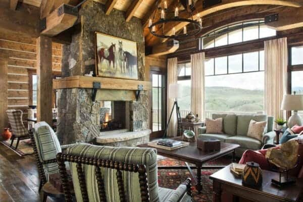 featured posts image for Inviting ranch style home offers rustic warmth in the Colorado Rockies
