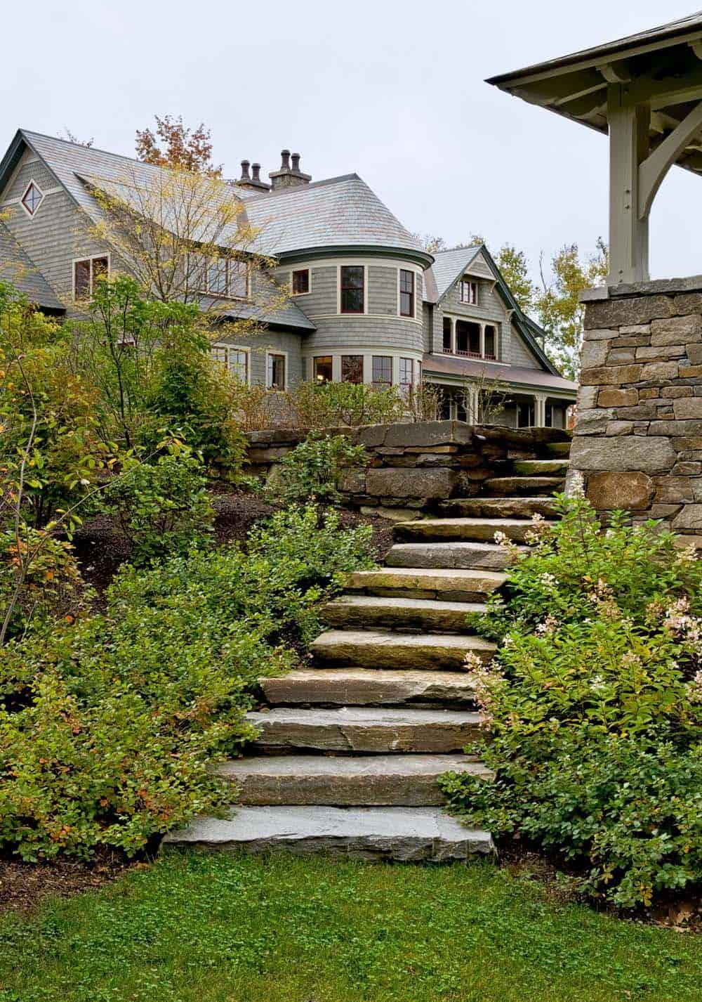 shingle-style-home-landscape-staircase-gazebo
