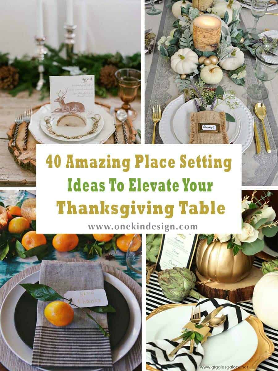 40 Amazing Place Setting Ideas To Elevate Your