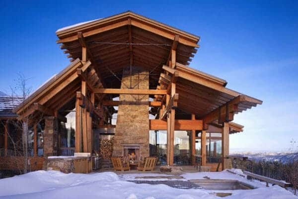 featured posts image for Rustic home in the Rocky Mountains showcasing a rock-climbing wall