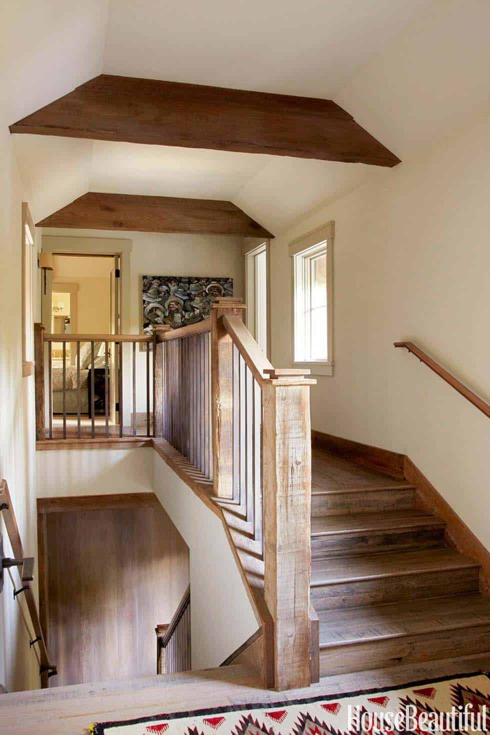 Rustic Mountian Stair Railings: Mountain Getaway With Rustic Yet Refined Style In