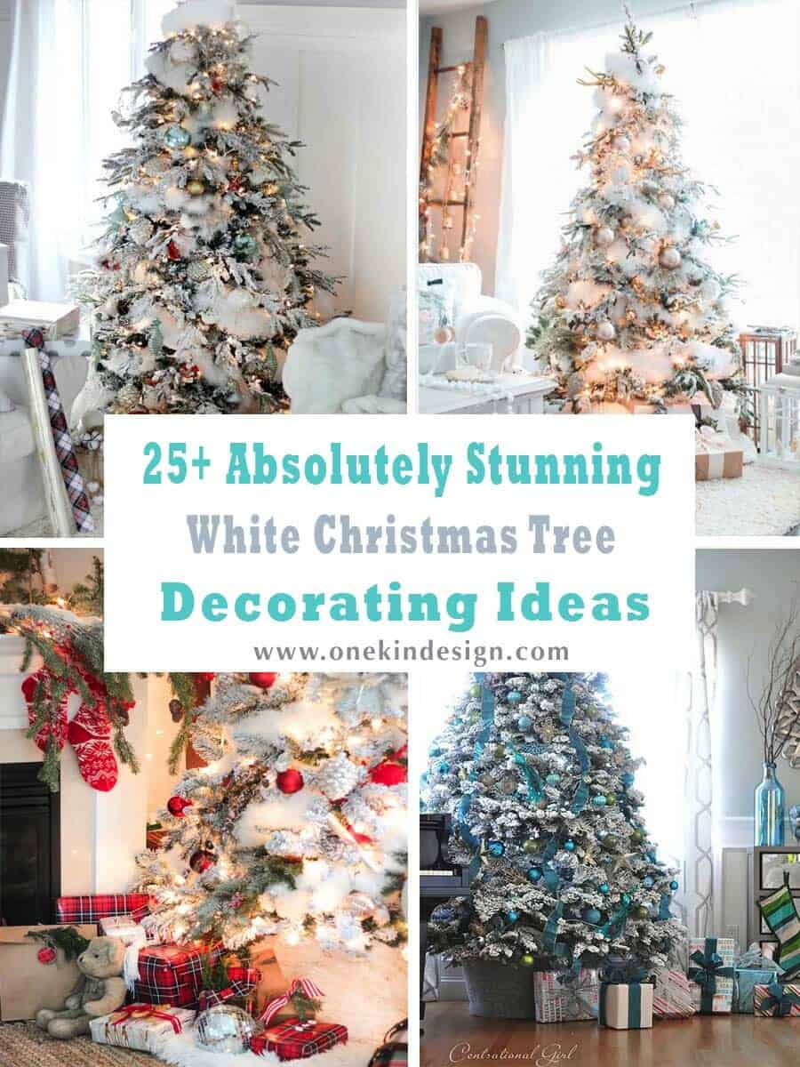 Christmas Tree Decorations Ideas.25 Absolutely Stunning White Christmas Tree Decorating Ideas
