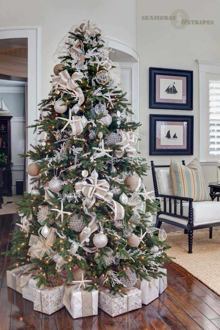 25 Absolutely Stunning White Christmas Tree Decorating Ideas