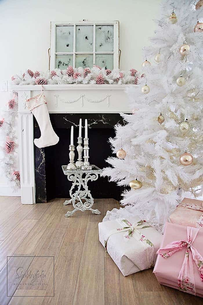 shabby-chic-white-christmas-tree