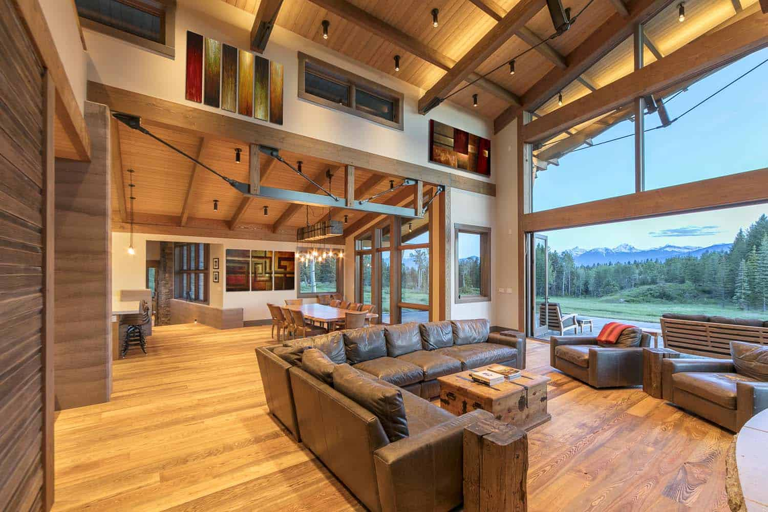 contemporary-mountain-cabin-living-room