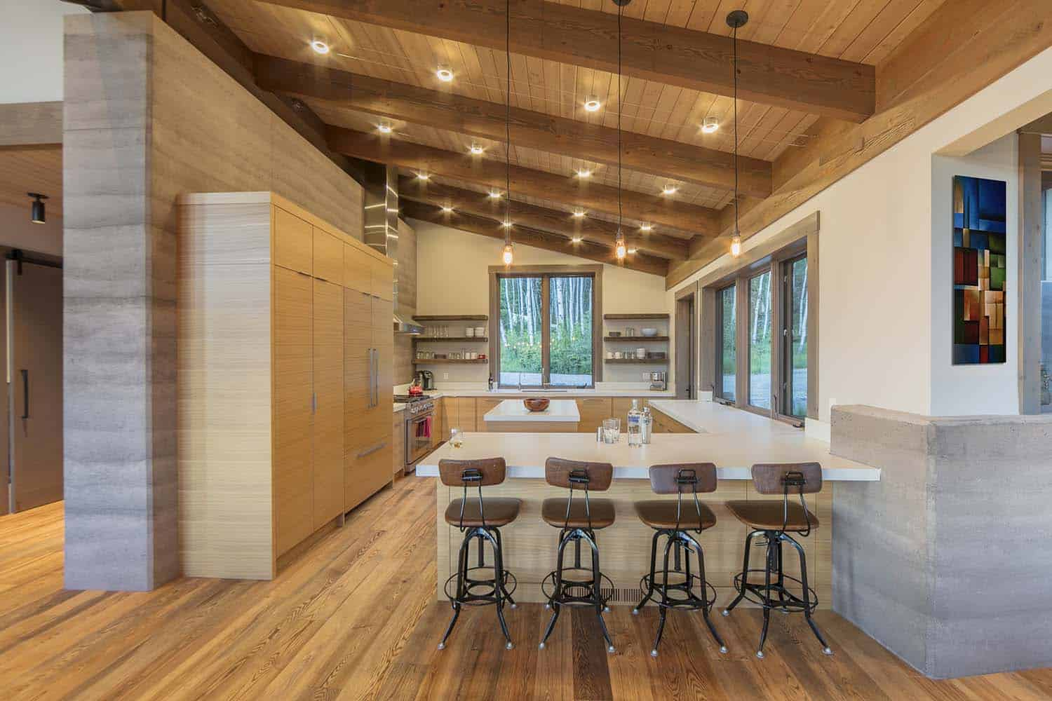 contemporary-mountain-cabin-kitchen