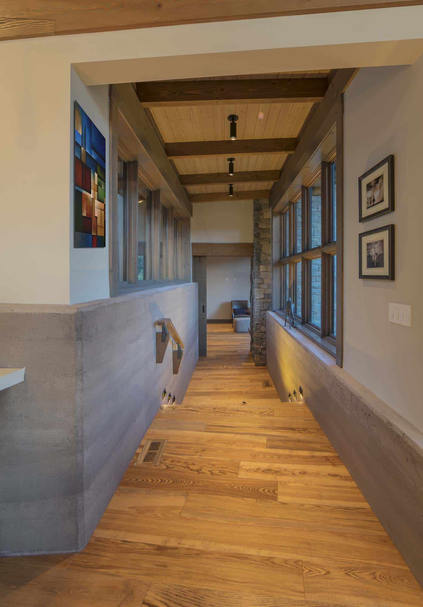 contemporary-mountain-cabin-hall