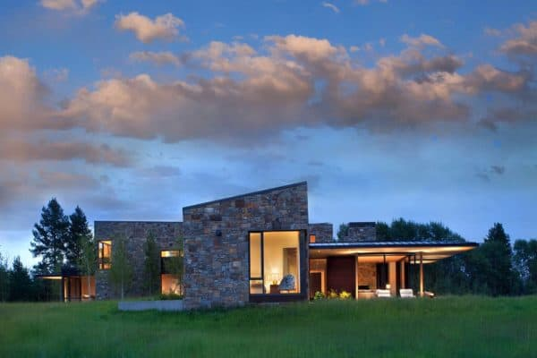 featured posts image for Fabulous contemporary dwelling nestled at base of Teton Mountain Range