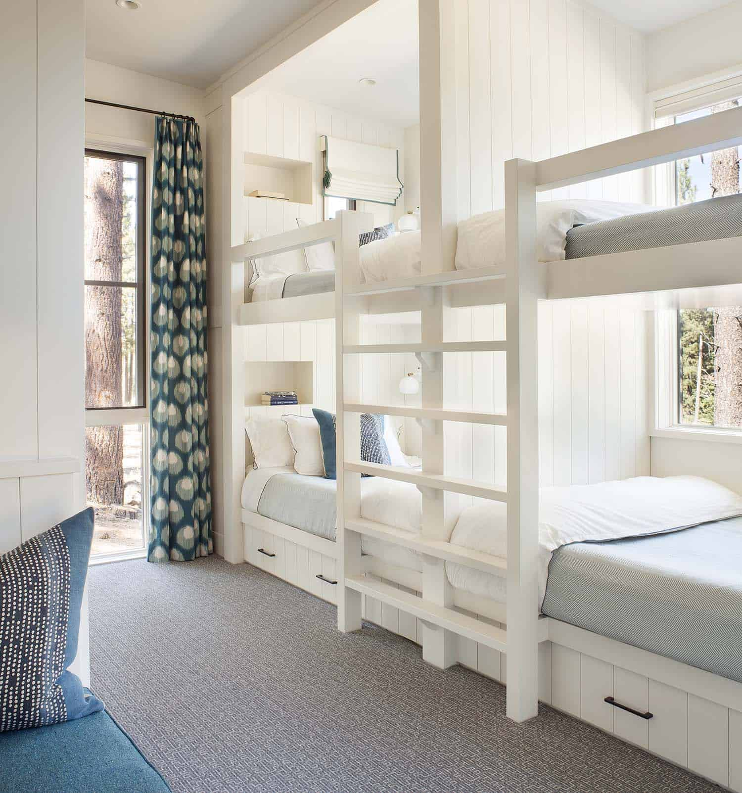 contemporary-rustic-kids-bunk-bedroom
