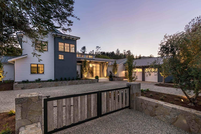 Delightful Contemporary Farmhouse Takes Shape In California