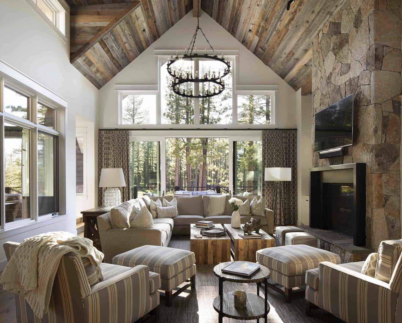 Idyllic mountain farmhouse style retreat in california 39 s - Farm style living room ...