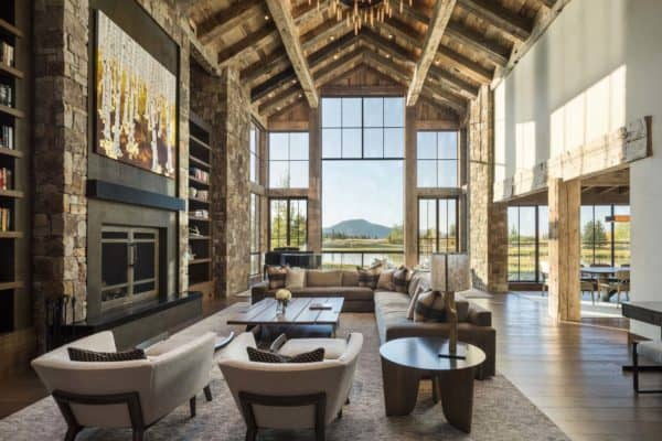 featured posts image for Delightful rustic home in Wyoming with a dramatic mountain backdrop