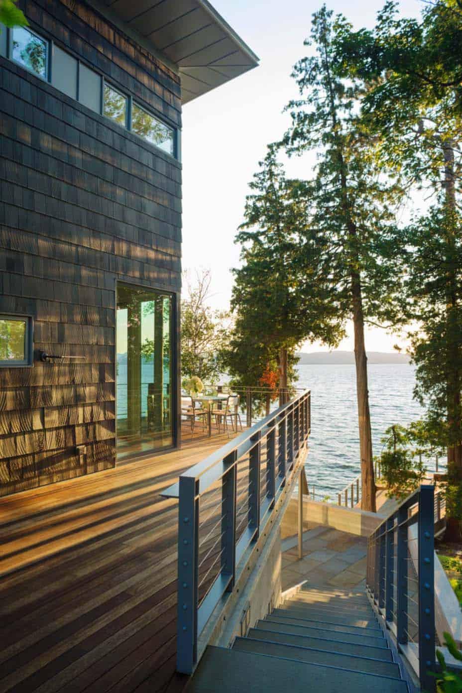 contemporary-lake-house-exterior-staircase