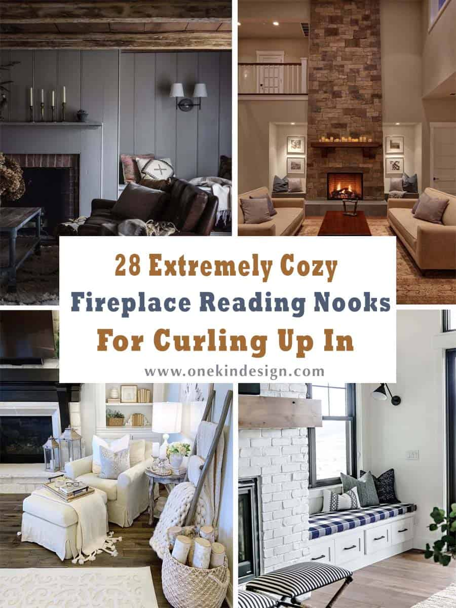 28 Extremely Cozy Fireplace Reading Nooks For Curling Up In