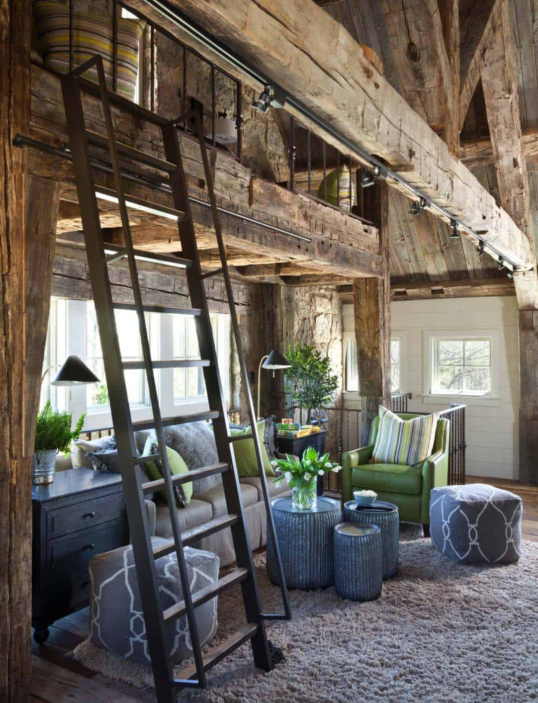 sleeping-and-hang-out-loft-farmhouse-family-room
