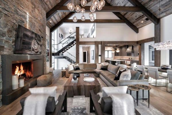 featured posts image for Breathtaking mountain modern home in Montana with inviting details