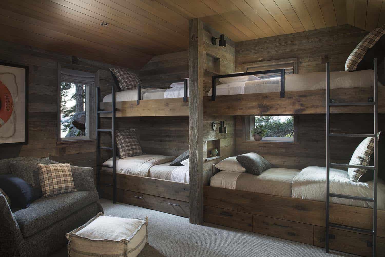 rustic-lake-house-bunk-bedroom
