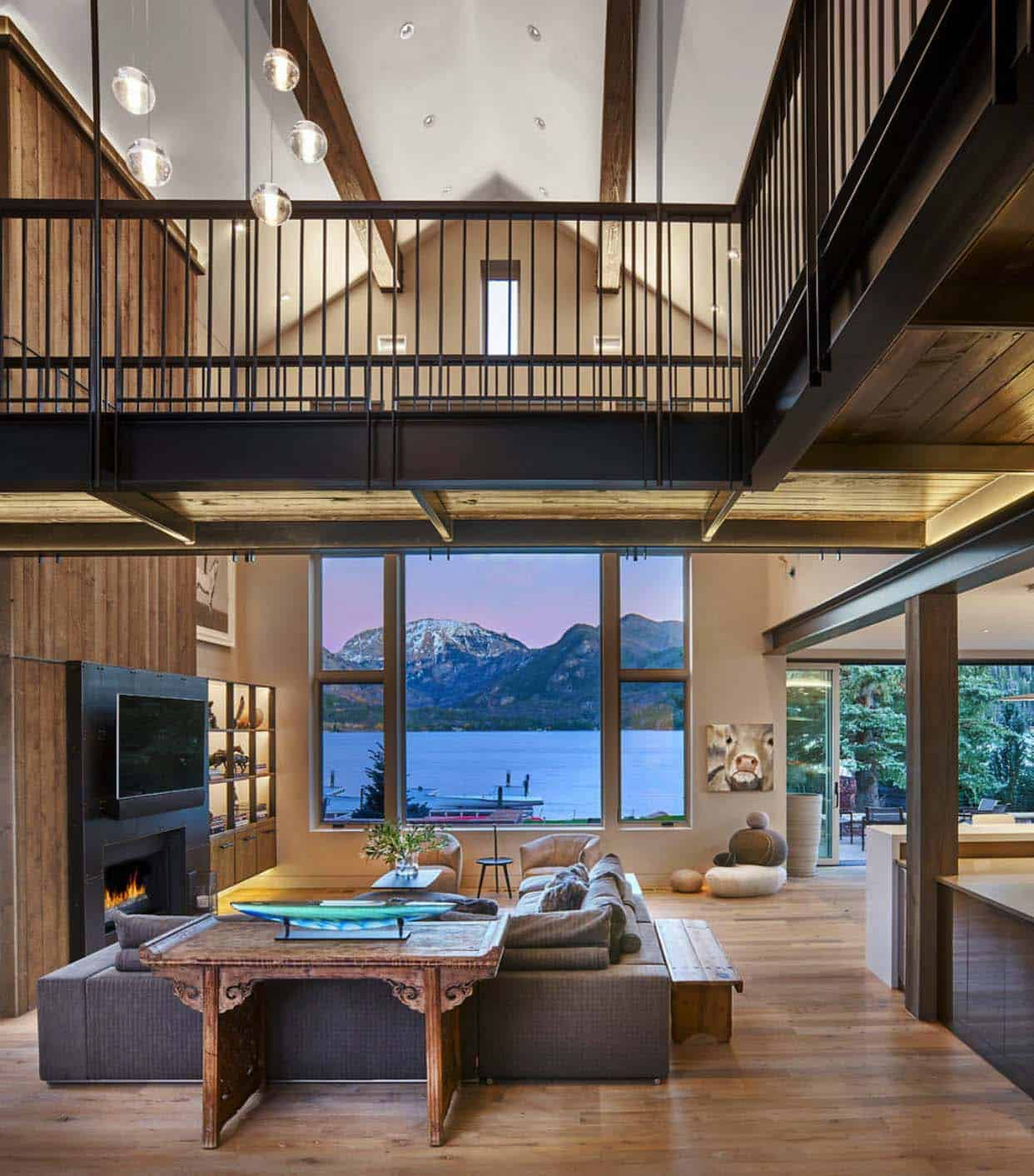 lake-home-rustic-living-room