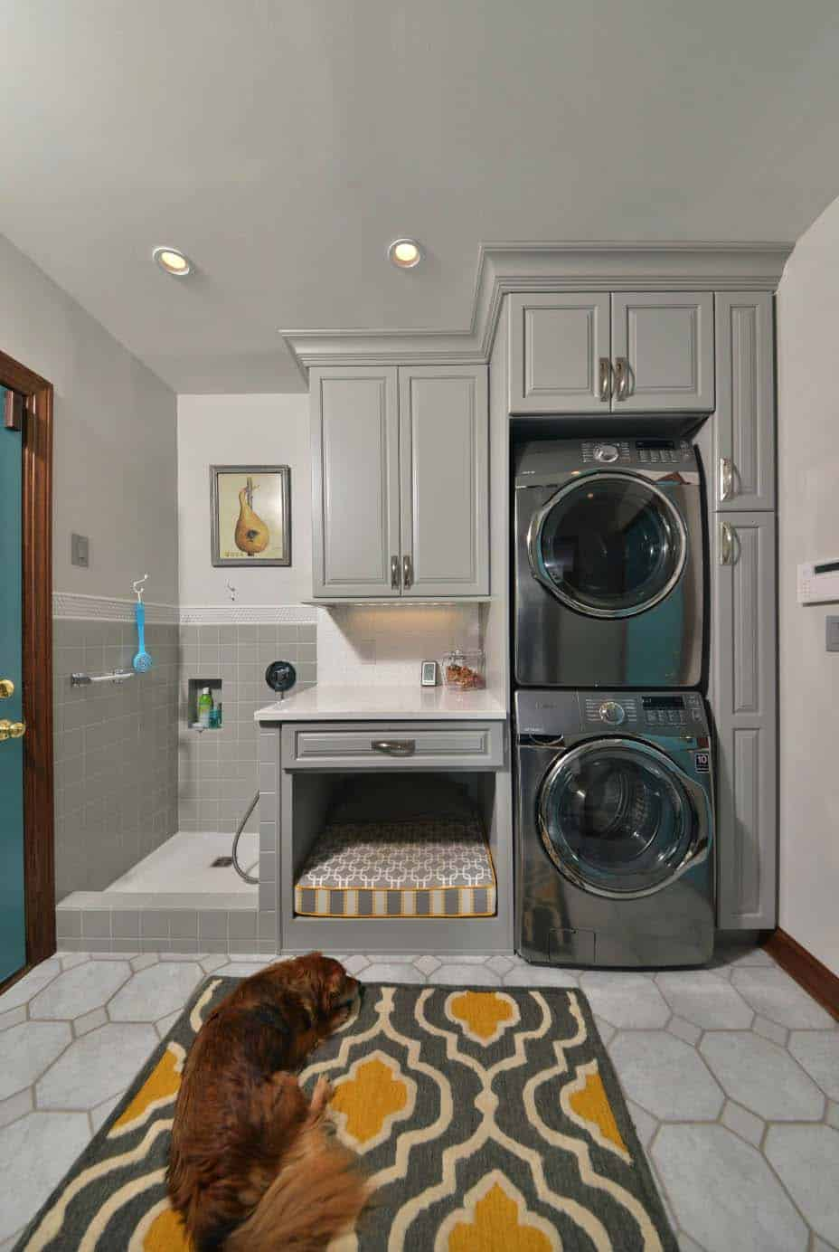 functional-laundry-room-design-with-pet-bed