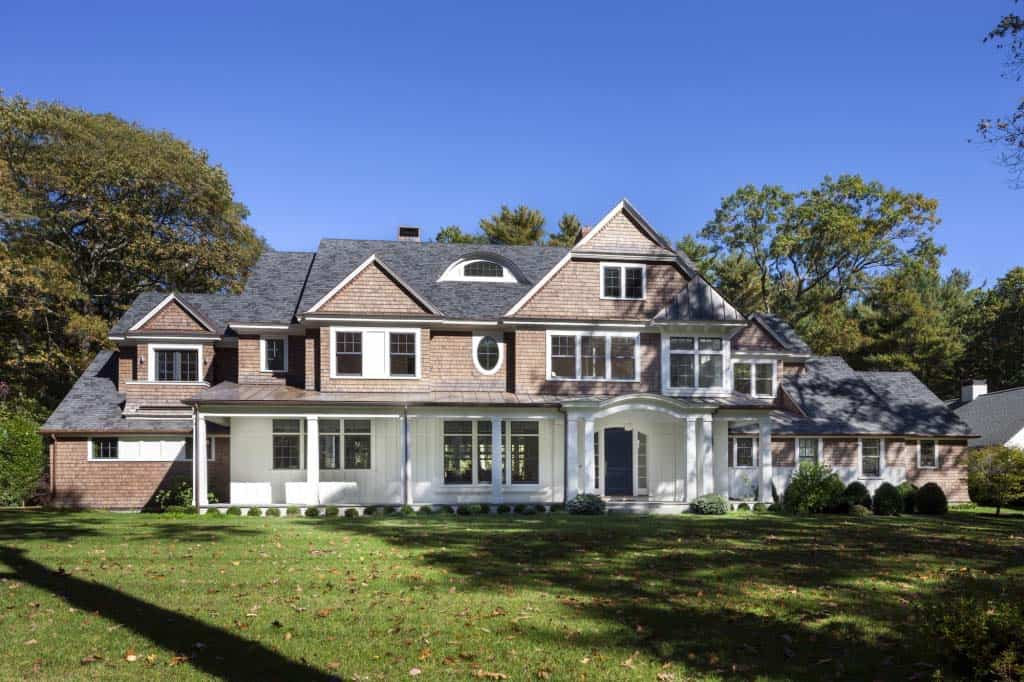 Clic New England Shingle Style Home Boasts A Striking