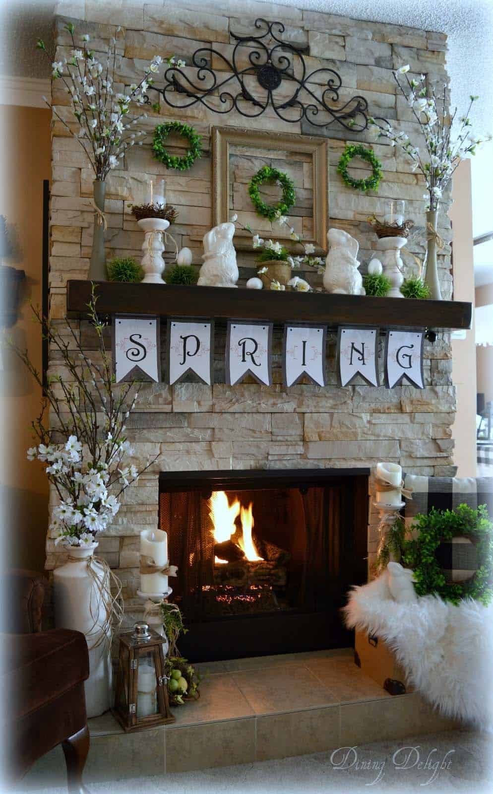 28 Stylish Ideas To Creatively Decorate Your Mantel For Easter