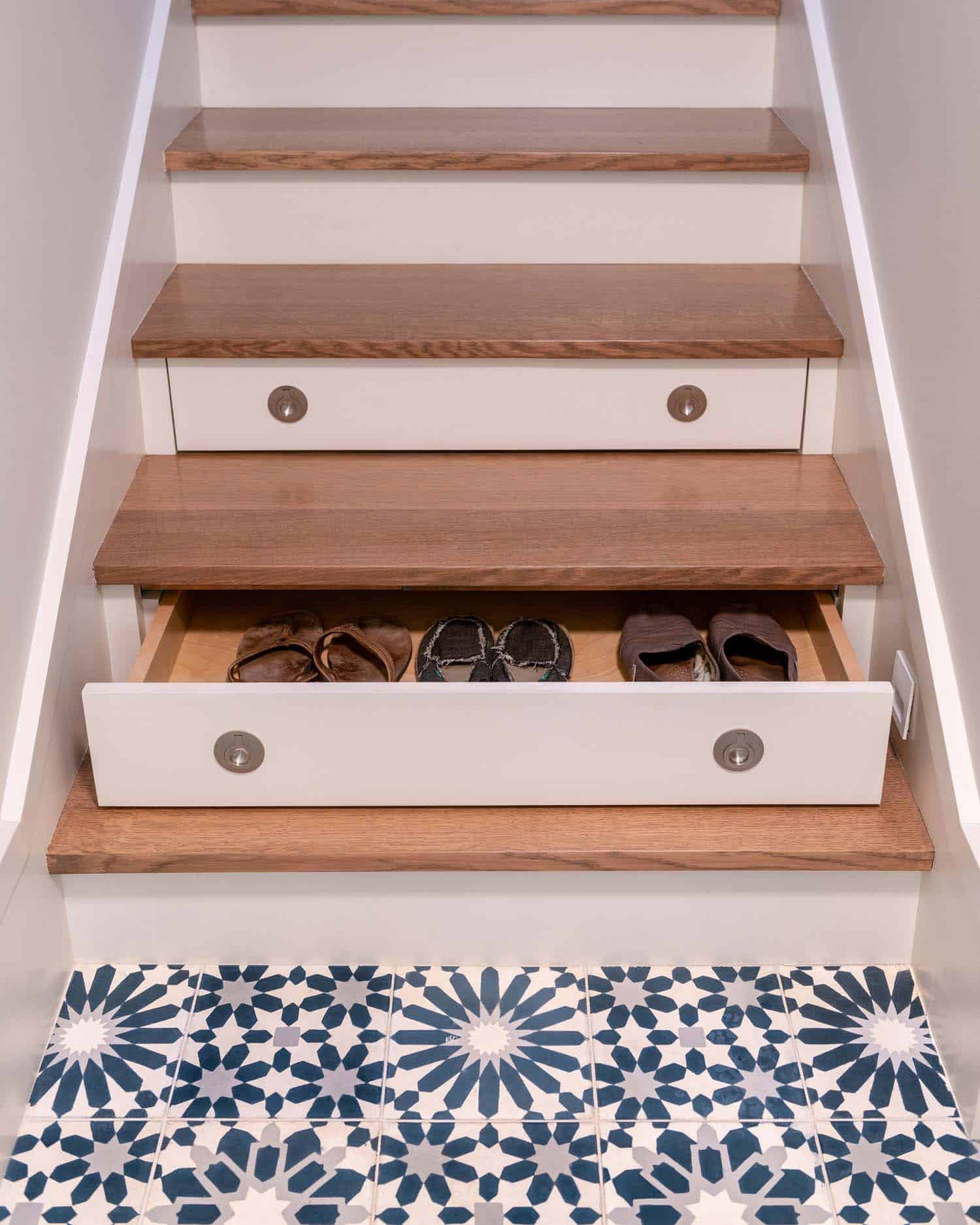 transitional-staircase-shoe-drawer